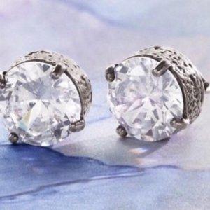 Silpada Diamond Stud Earrings